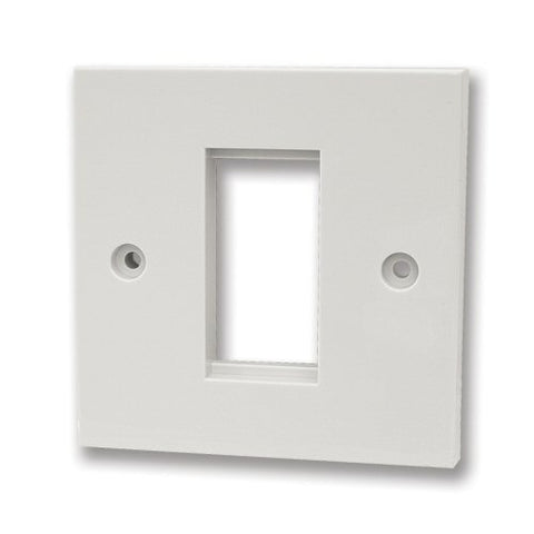 Single Module Faceplate, Faceplate with 25x50mm aperture
