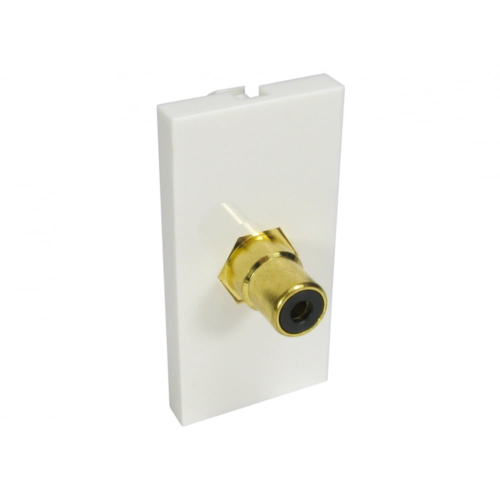 Single RCA Module (Black) Euromodule - White