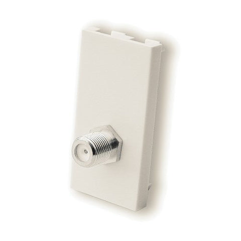 F Type Single Satellite Co-Ax Module Euromodule - White - Bristol Communications