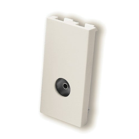Isolated TV Female Co-Ax Module Aerial Male Co-Ax Module Euromodule - White