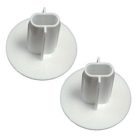Double Cable Cable Entry Grommet (White)
