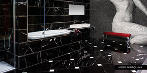Big Apple Marble -Nero Marquina, Black Marble
