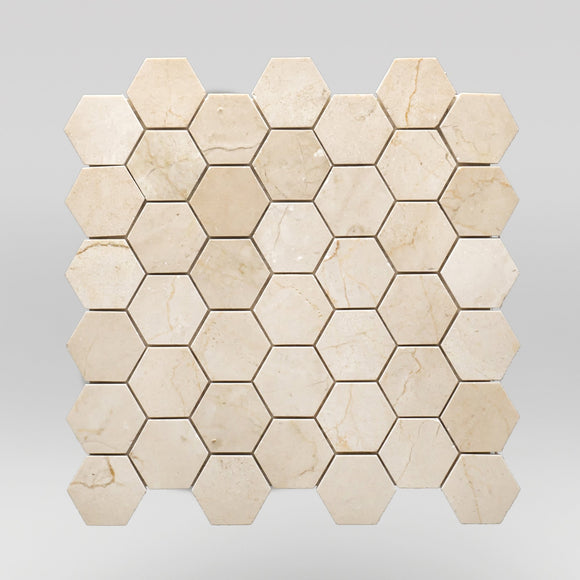 Crema Marfil Select Polished Hexagon 2
