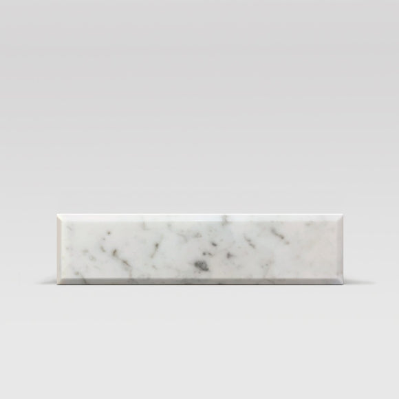 White Carrara Polished, Bevelled 4