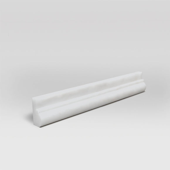 Dolomite Polished Ogee1 Chair Rail Base Marble Molding - BigAppleMarble.com