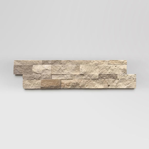 Mix Travertine (Ivory-Walnut) Ledger Panel 6