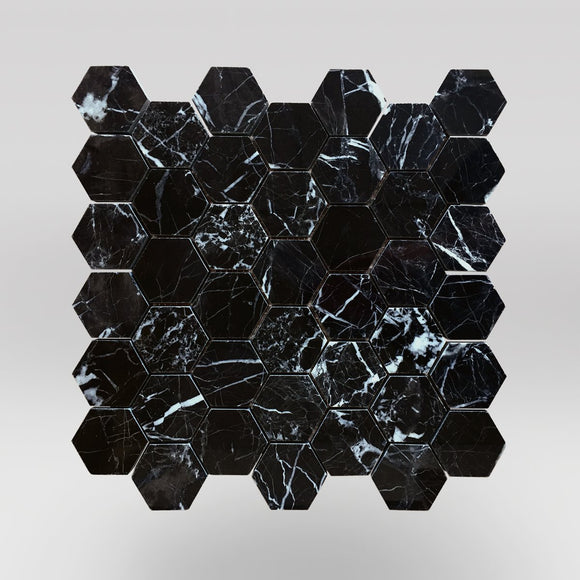 Nero Marqouina Polished Hexagon 2