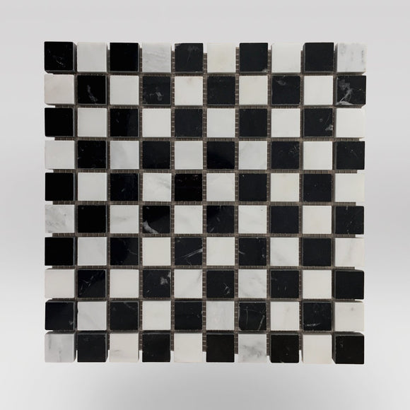 Nero Marqouina Polished Checker Board 1