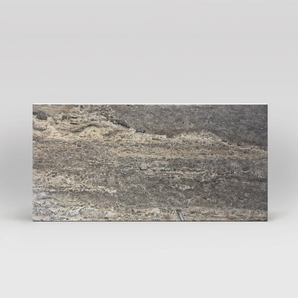 Silver Travertine Honed 12