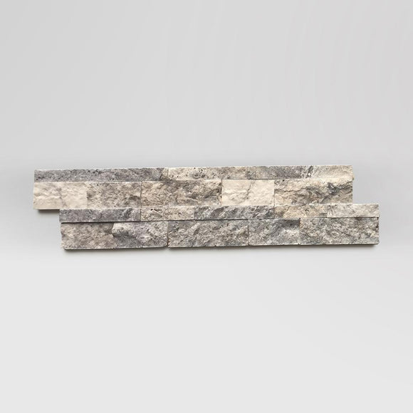 Silver Travertine Ledger Panel 6