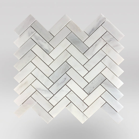 Oriental White/Eastern White Honed Herringbone 1