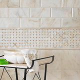 "Afyon Sugar Polished Hexagon 2"" Marble Mosaic BigAppleMarble.com"