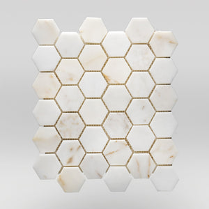 "Afyon Sugar Polished Hexagon 2"" BigAppleMarble.com"
