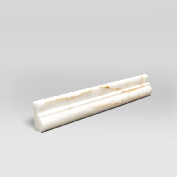 Afyon Sugar Polished Ogee1 Chair Rail Marble Moulding BigAppleMarble.com