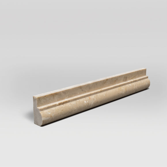 Bursa Beige Polished Ogee1 Chair Rail Marble Moulding BigAppleMarble.com