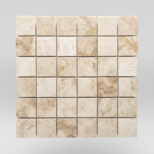 "Cappuccino Polished 2""x2"" Marble Mosaic / Square BigAppleMarble.com"