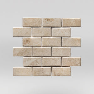 "Cappuccino Polished, Bevelled 2""x4"" 