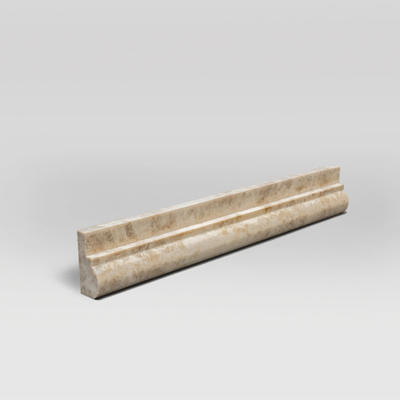 Cappuccino Polished Ogee1 Chair Rail | Marble Moulding | BigAppleMarble.com
