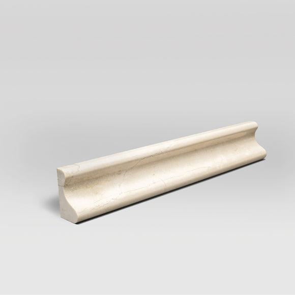 Crema Marfil Select Honed Chair Rail | Marble Moulding | BigAppleMarble.com