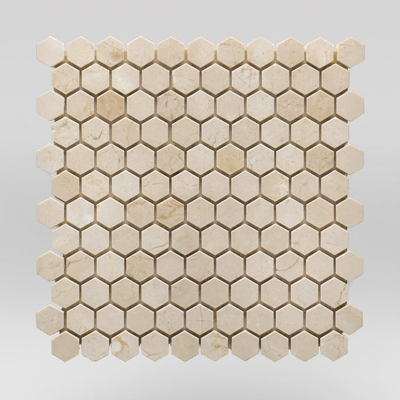 Crema Marfil Select Polished Hexagon 1