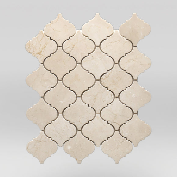 Crema Marfil Select Polished Lantern | Marble Mosaic | BigAppleMarble.com