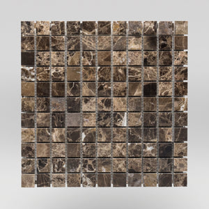 "Dark Emperador Polished 1""x1"" 