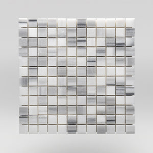 "Equator Polished 1""x1"" Marble Mosaic 1""x1"" / Square BigAppleMarble.com"