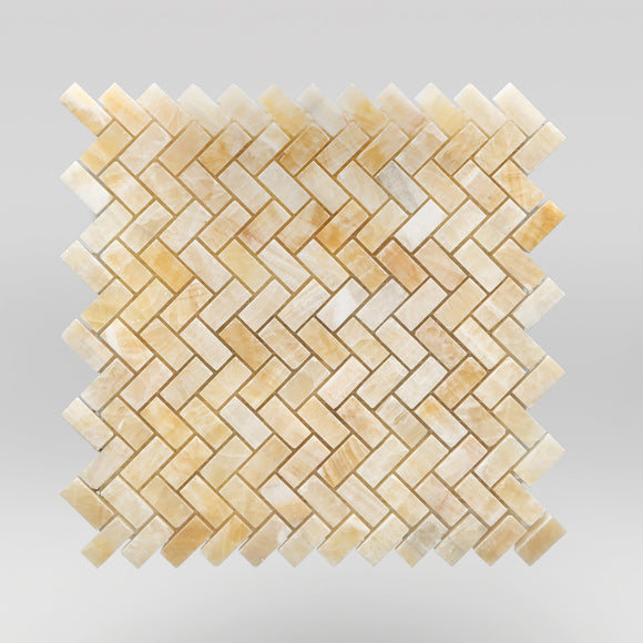 Honey Onyx Polished Herringbone 5/8