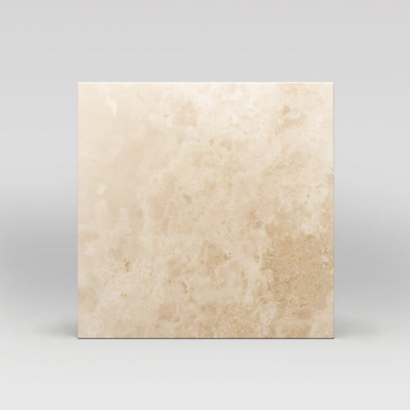 Ivory (White) Travertine Honed 18