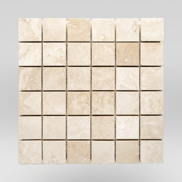 Ivory (White) Travertine Honed 2