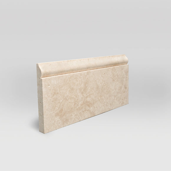 Ivory (White) Travertine Honed Base Travertine Moulding Base / Base BigAppleMarble.com
