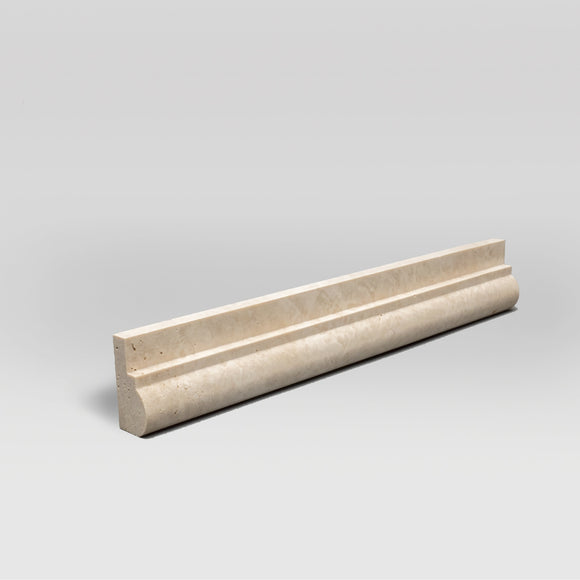 Ivory (White) Travertine Honed Ogee1 Chair Rail Travertine Moulding Ogee1 / Chair Rail BigAppleMarble.com