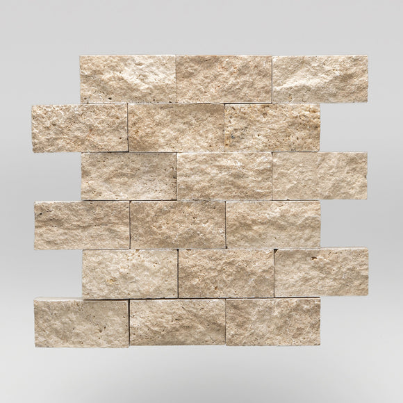 Ivory (White) Travertine Split Face 2