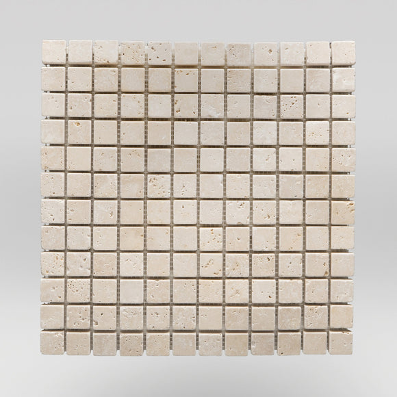 Ivory (White) Travertine Tumbled 5/8