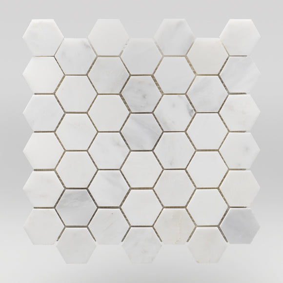 Oriental White/Eastern White Honed Hexagon 2