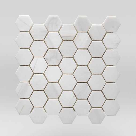 Oriental White/Eastern White Polished Hexagon 2