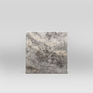 "Silver Travertine Tumbled 12""x12"" Tile - BigAppleMarble.com"