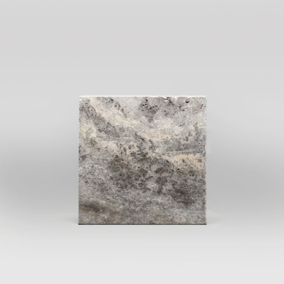 Silver Travertine Tumbled 12