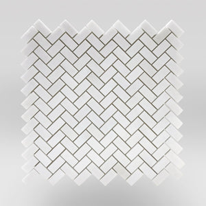 Thassos Polished Mini Herringbone - BigAppleMarble.com