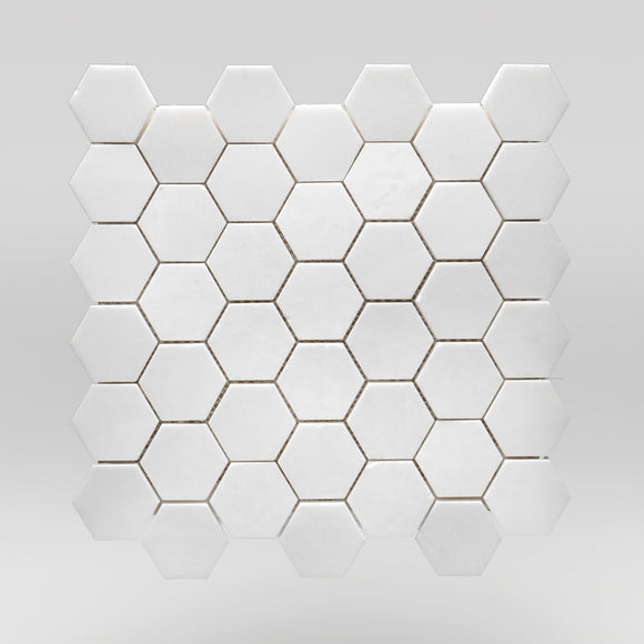 Thassos Polished Hexagon 2