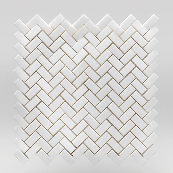 Thassos Polished Mini Herringbone 5/8