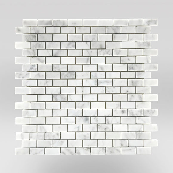 White Carrara Polished Mini Brick - BigAppleMarble.com
