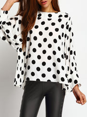 Dot Dot Dot Sleeve Blouse