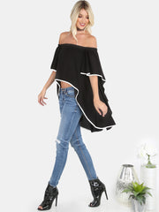 Yang Bardot Waterfall Top