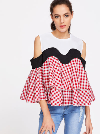 Picnic Ruffle Tiered Top