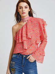 Red Mango Layered Ruffle Top