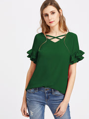 Feeling Lucky Sleeve Top