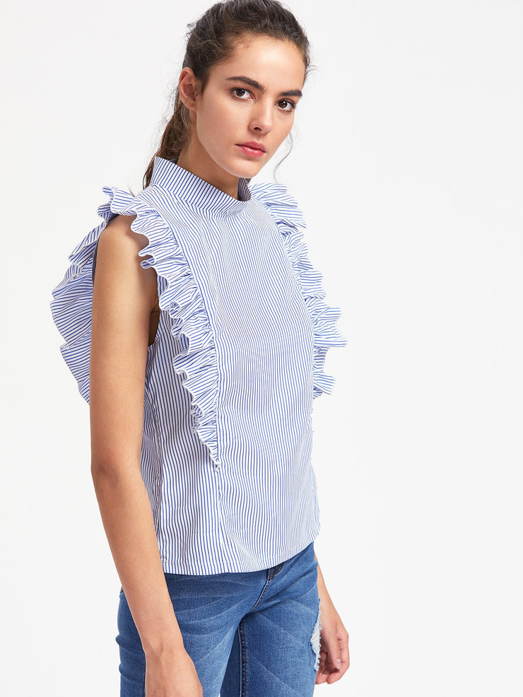 Zara Frill Trim Top