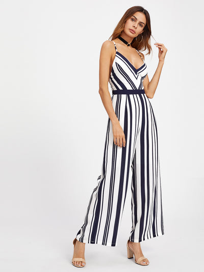 Crossroads Striped Jumpsuit