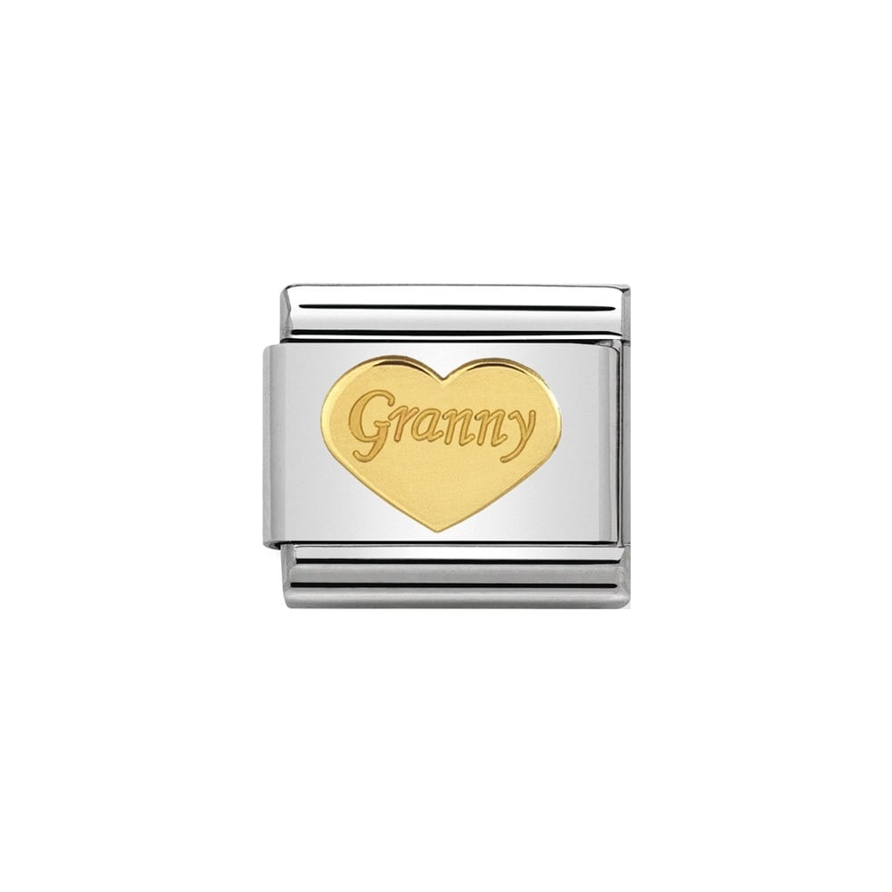 Nomination Classic Gold Granny Heart Charm - S&S Argento